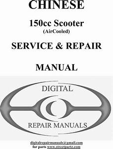 Chinese Gy6 150cc Scooter Repair Service Manual