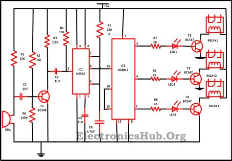 Clap Switch Circuit For Devices Working
