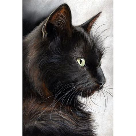 Abstract Black Cat Watercolor by Painted Abstract Painting Watercolor Black