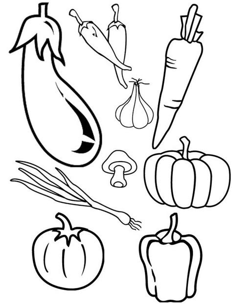 cornucopia vegetables coloring page fall vegetable