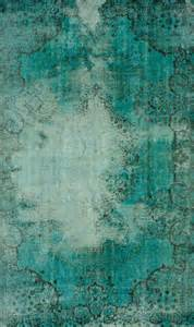 Turquoise and Teal Green Area Rug