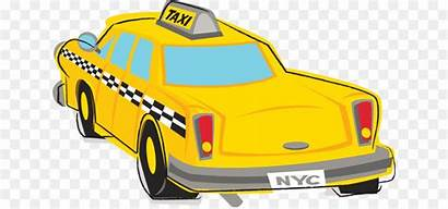 Taxi York Yellow Clipart Clip Nyc Cab