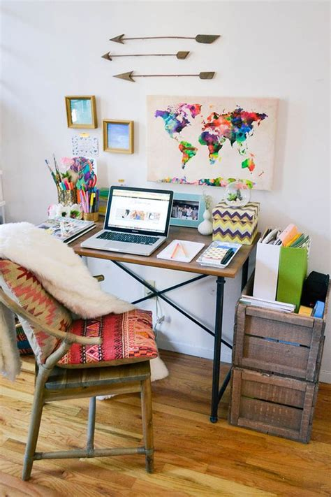 decoration bureau york a tour of my nyc apartment office desks bohemian decor