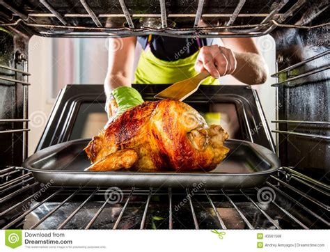 cooking chicken on the stove cooking chicken in the oven at home stock photo image 43561568