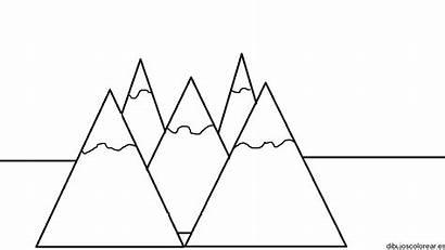 Coloring Mountain Colorear Dibujos Everest Volcanes Montanhas