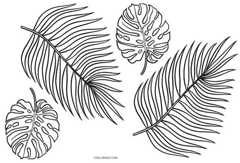 printable leaf coloring pages  kids