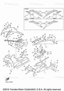 Yamaha Motorcycle 2016 Oem Parts Diagram For Cowling 2