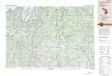 traverse city topographic maps mi usgs topo quad
