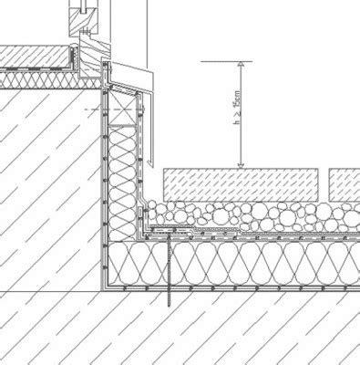 flachdach holzkonstruktion detail anschl 252 sse an t 252 ren flachdach detailzeichnungen baunetz wissen