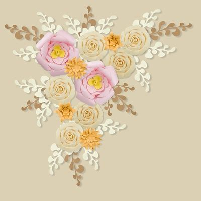 Check our post for pink gold palette color codes. 12-Pc Combo Pink / Vanilla Beige / Gold Paper Flower Backdrop Wall Decor Set, 3D Premade