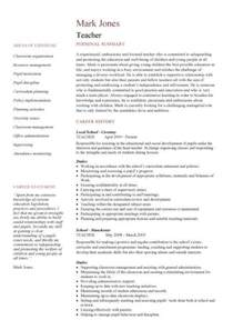 Curriculum Vitae Templates Teachers by Cv Template Lessons Pupils Teaching School Coursework