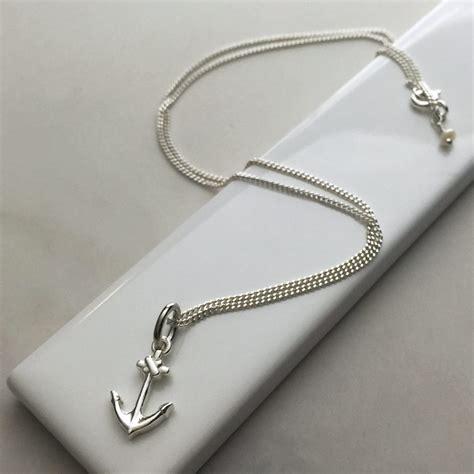 anchor necklace  sterling silver bianca jones british