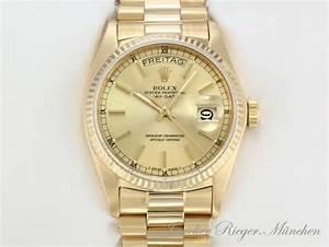 Rolex Uhr Herren Gold : rolex uhr day date gold 750 36mm automantik herren armbanduhr herrenuhr daydate ebay ~ Frokenaadalensverden.com Haus und Dekorationen