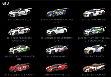 Cars List by Project Cars 2 Car List Revealed Sim Racing Paddock