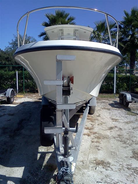 Boat Hull Steps by Trailer Ladder For High Bow Launching Tips The