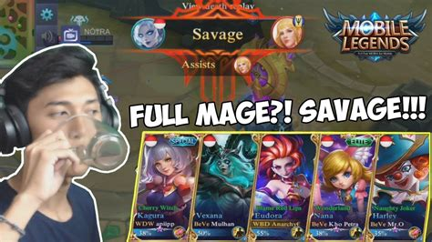 5 Youtuber Kocak + Full Mage Savage!!!