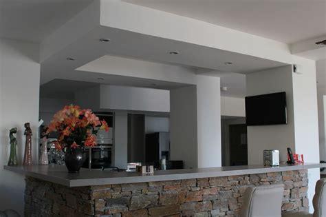 cuisine interieur réalisation faux plafond à brest dans le finistère 29