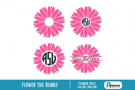 flower svgflower clip artflower svg fileflower cut file crella