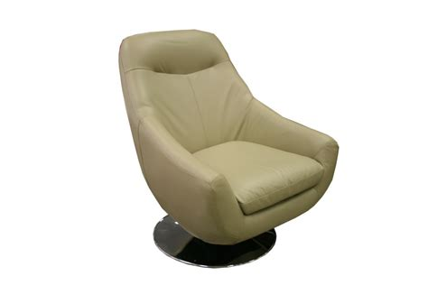 Light Grey Swivel Armchair For Living Room With High