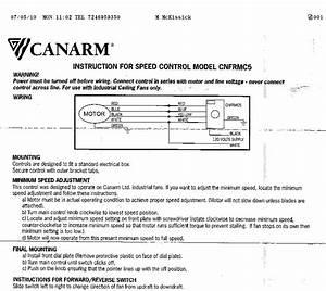 Canarm Industrial Ceiling Fans Wiring Diagram