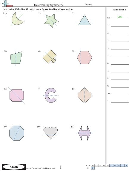 Lines Of Symmetry Worksheets Worksheets For All  Download And Share Worksheets  Free On