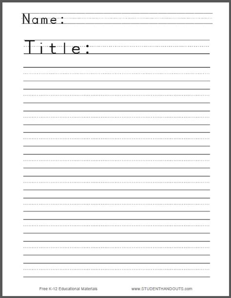 write a story worksheet for free to print pdf file