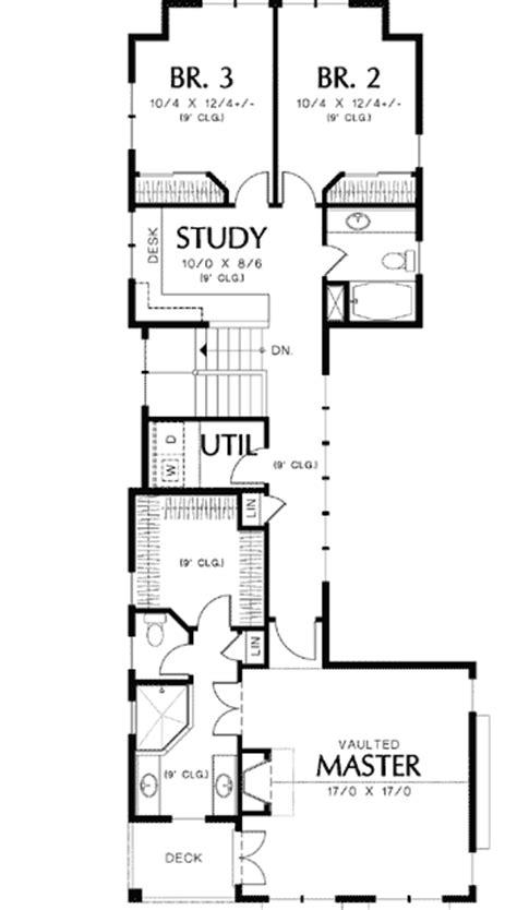 unique  story narrow lot plan  architectural designs house plans