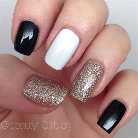 Polished Off With Black + White Polish with Gold Glitter! - Beauty 101