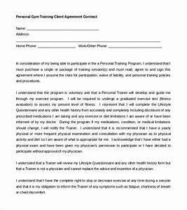 gym contract template 14 free word pdf documents With personal trainer contract templates