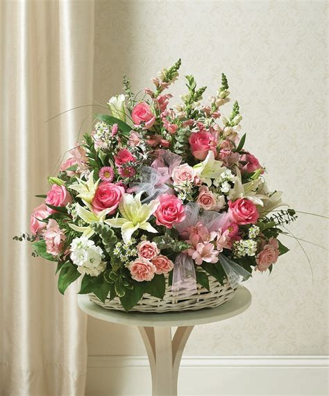 cranford florist  giftss pink  white sympathy