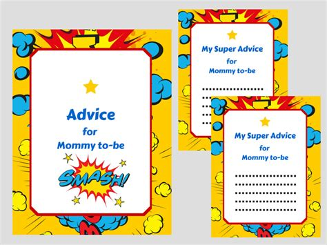 superhero advice cards magical printable