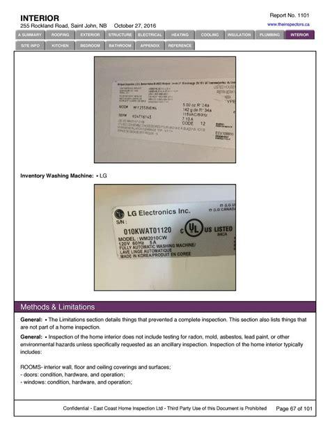 sample inspection report simplebookletcom