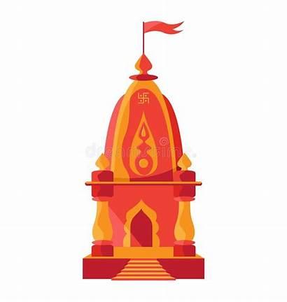 Temple Mandir Hindu Clipart Swastik Flag Hinduism