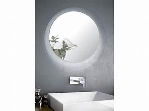 Miroir Rond Salle De Bain : miroir salle de bains led rond crystal ~ Nature-et-papiers.com Idées de Décoration