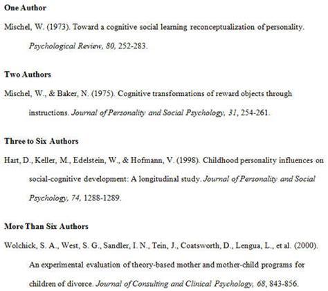 apa format citation exles reference