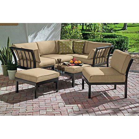 Sofa Set In Walmart by Ragan Meadow 7 Outdoor Sectional Sofa Set Seats 5