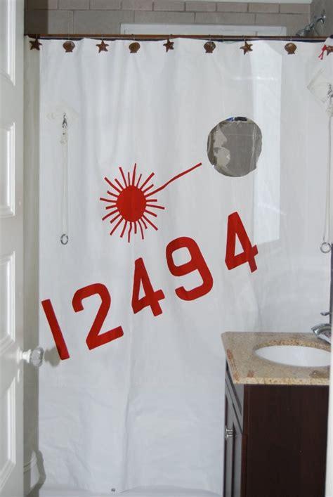 portholes shower curtain   sail