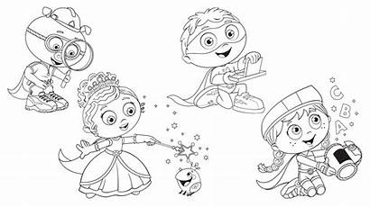 Super Why Coloring Pages Club Bestcoloringpagesforkids