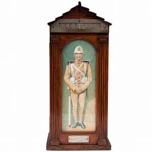 antique oak glazed sentry letter box for sale at 1stdibs With antique letter box for sale