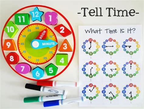 19 best preschool clocks time images on 751 | d5551ddf5206fa8d67ab7bf13bfdc696 telling time activities teaching time