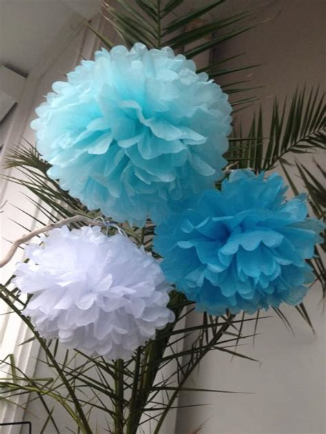 white pom pom decorations set of 3 home decor pom poms decorations paper decors weddings decoration birthday pompom