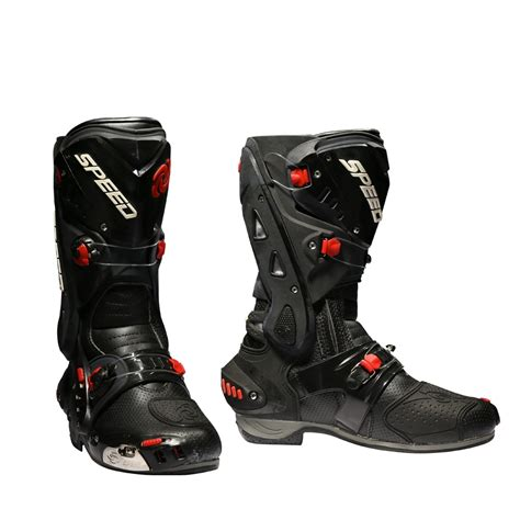 Motorcycle Boots Racing Speed Cycling Safety Shoes Pro