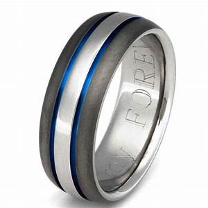 Titanium Wedding Band Thin Blue Line From
