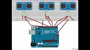 3 Hc-sr05 Hc-sr04 And Arduino