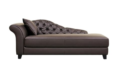 chaise studio baxton studio josephine brown leather modern