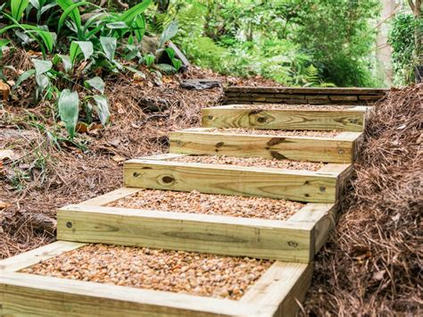 build outdoor wood steps  tos diy