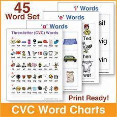 Threeletter (cvc) Word Charts By Donald's English Classroom Tpt