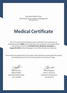 Example Of Medical Certificate For Sick Leave Medical Certificate Template 31 Free Word Pdf