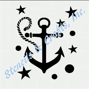 ANCHOR NAUTICAL STENCIL STAR STARS CIRCLES ROPE SEA ...