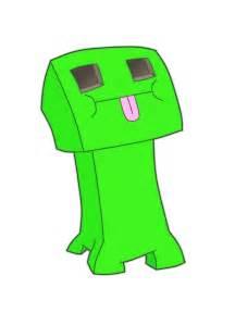 Minecraft Cute Creeper Drawing